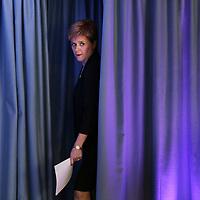 Scottish First Minister Nicola Sturgeon arrives to give a statment at St Andrews House,Edinburgh.Photo David Cheskin.23.05.2017