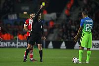 Football - 2016 / 2017 UEFA Europa League - Group K: Southampton vs Inter Milan<br /> <br /> Referee Mr Pawel Gil [POL] shows a yellow card to Miranda of Inter Milan at St Mary's Stadium Southampton England<br /> <br /> COLORSPORT/SHAUN BOGGUST