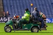 Finlay Bealham (#3) of Connacht Rugby leaves the field after a clash of heads during the Guinness Pro 14 2019_20 match between Edinburgh Rugby and Connacht Rugby at BT Murrayfield Stadium, Edinburgh, Scotland on 21 February 2020.