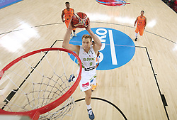 Jaka Blazic of Slovenia during basketball match between Slovenia vs Netherlands at Day 4 in Group C of FIBA Europe Eurobasket 2015, on September 8, 2015, in Arena Zagreb, Croatia. Photo by Vid Ponikvar / Sportida ###THIS IMAGE IS JUST FOR USE IN SLOVENIA  !!! ###