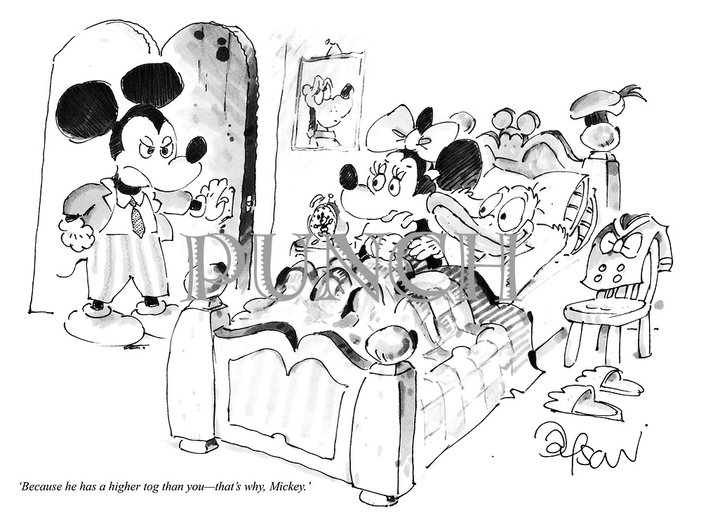 'Because he has a higher tog than you—that's why, Mickey.'
