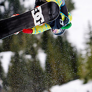 Australian National Snowboard Team member Scott James completes his run during half pipe qualifying at the 2009 LG Snowboard FIS World Cup at Cypress Mountain, British Columbia, on February 16th, 2009. James finished 60th in the field of 70.