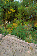 Pioneer inscriptions on Sioux Quartzite, Pipestone National Monument, Minnesota
