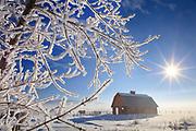 Red Barn near Stevensville, Montana.