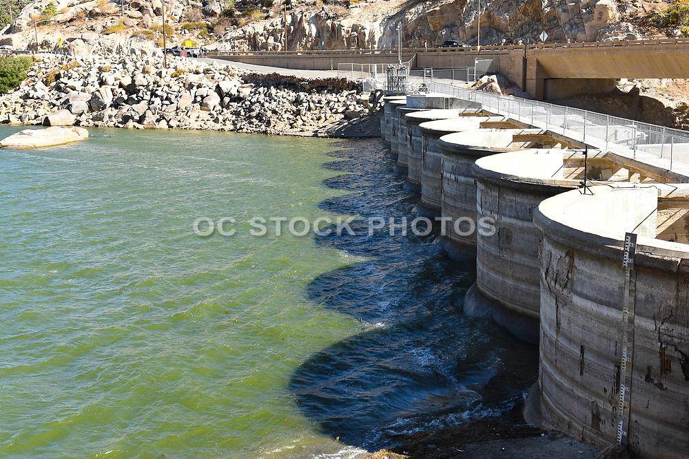 Bear Valley Dam Big Bear Lake California Back Side