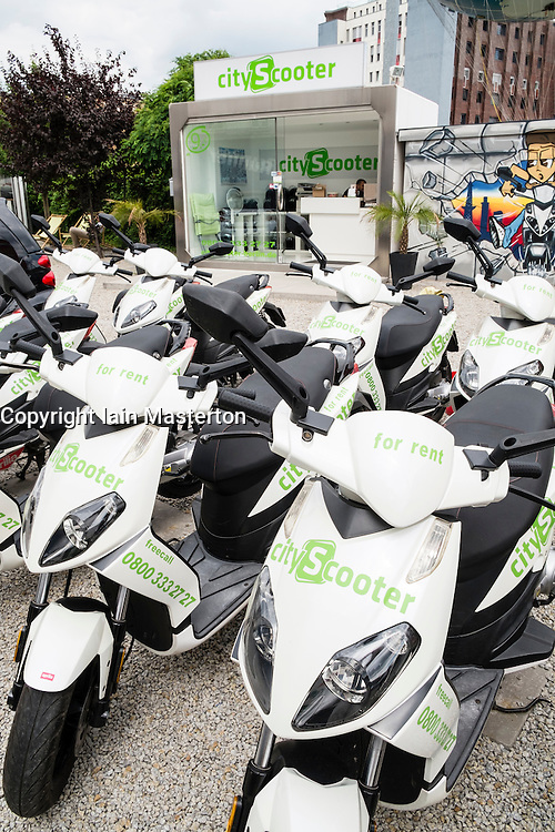 City Scooter scooters for hire shop in Berlin Germany