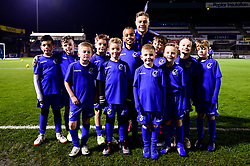 James Clarke of Bristol Rovers with mascots before kick off - Mandatory by-line: Ryan Hiscott/JMP - 22/01/2019 - FOOTBALL - Memorial Stadium - Bristol, England - Bristol Rovers v Port Vale - Checkatrade Trophy