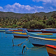 Fishing boats.Guanica Puerto Rico