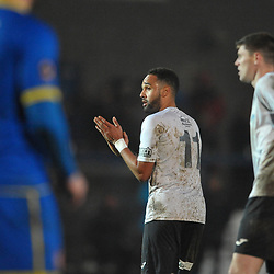 TELFORD COPYRIGHT MIKE SHERIDAN Brendon Daniels of Telford during the Vanarama Conference North fixture between AFC Telford United and Alfreton Town at the New Bucks Head Stadium on Thursday, December 26, 2019.<br /> <br /> Picture credit: Mike Sheridan/Ultrapress<br /> <br /> MS201920-036