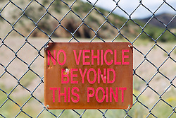 no vehicle beyond this point sign