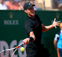 April 19, 2018 - Monaco - Tennis - ATP- Monaco - Monte Carlo, Monte  Carlo country club, Rolex Monte - Carlo Masters 2018, 19 avril 2018..L'autrichien Dominic Thiem  (Credit Image: © Panoramic via ZUMA Press)