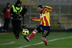 Lecce (LE), 16-01-2011 ITALY - Italian Soccer Championship Day 20 -  Lecce - Milan..Pictured: Vives (L)..Photo by Giovanni Marino/OTNPhotos . Obligatory Credit