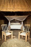 Guest accommodation, Luwi Bush Camp, South Luangwa National Park. Zambia, Africa