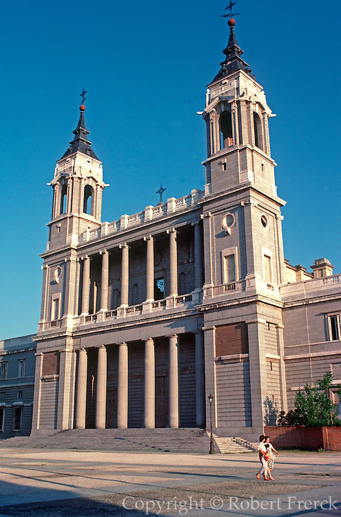 SPAIN, MADRID, MONUMENTS Cathedral of Nuestra Senora de la Almudena; begun 1879, in Neo-Gothic style