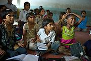 Indian children at Rajyakaiya School  in Narlai village, Rajasthan, Northern India