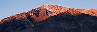 Sunrise on summit of Mount Tom, Sierra Nevada Mountains, Bishop, California