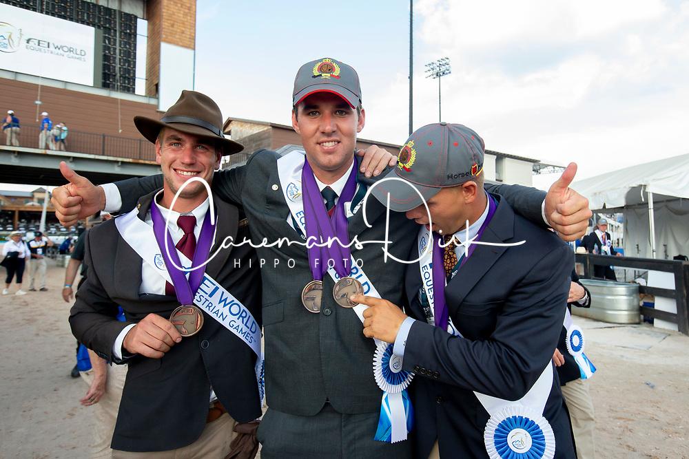 Degrieck Dries, Simonet Edouard, Geerts Glenn, BEL, <br /> World Equestrian Games - Tryon 2018<br /> © Hippo Foto - Sharon Vandeput<br /> 23/09/2018