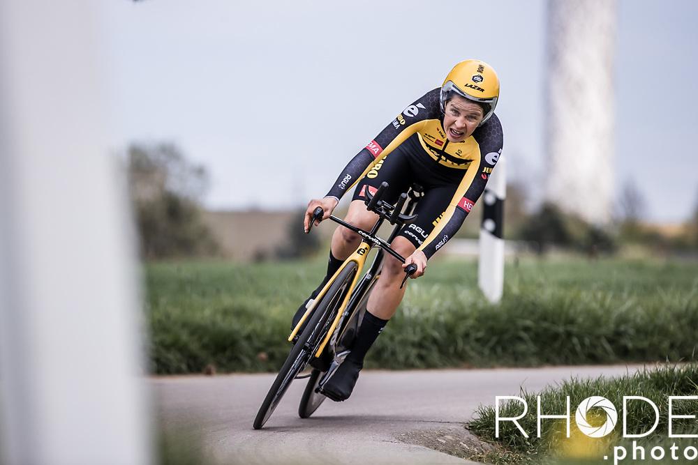 Romy Kasper (NED/Jumbo-Visma)<br /> <br /> Ceratizit Festival Elsy Jacobs (LUX) 2021<br /> UCI Women Elite 2.1<br /> Day 1 - prologue : Individual Time Trial (ITT) – Cessange (LUX) 2.2km <br /> <br /> ©RhodePhoto