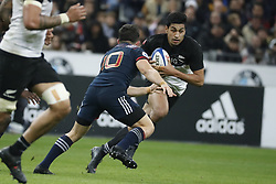 New-Zealand's Rieko Ioane during a rugby friendly Test match, France vs New-Zealand in Stade de France, St-Denis, France, on November 11th, 2017. France New-Zealand won 38-18. Photo by Henri Szwarc/ABACAPRESS.COM