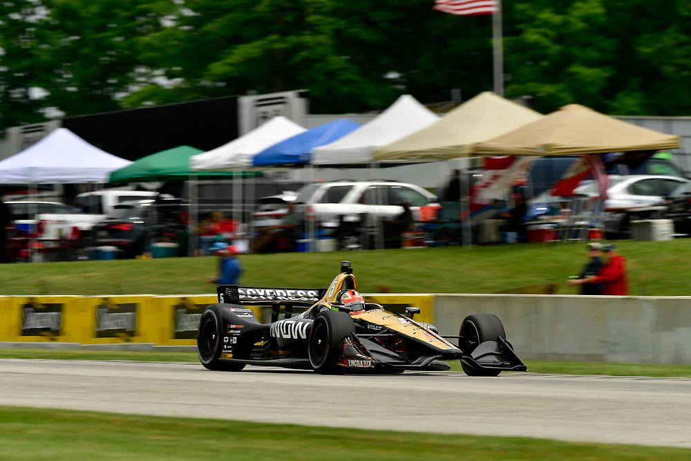 James Hinchcliffe, Schmidt Peterson Motorsports Honda<br /> Friday 22 June 2018<br /> KOHLER Grand Prix at Road America<br /> Verizon IndyCar Series<br /> Road America WI USA<br /> World Copyright: Scott R LePage