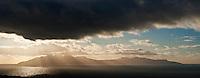 Dramatic light over Rum, viewed from Elgol, Isle of Skye, Scotland