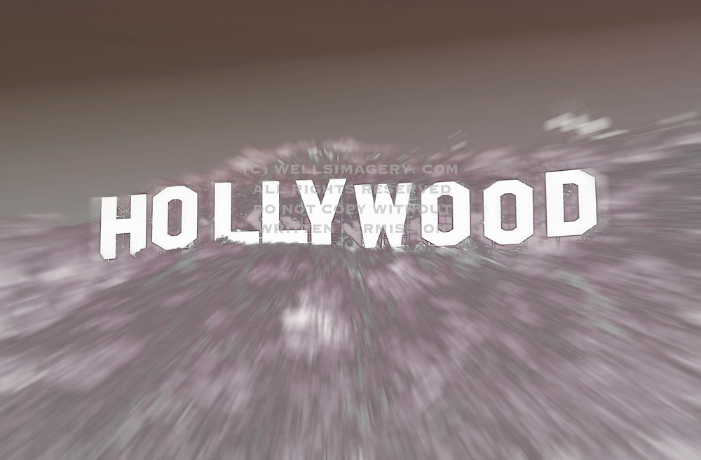 Image of the Hollywood sign in the Hollywood Hills, Los Angeles, California, America west coast by Randy Wells