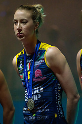 18-05-2019 GER: CEV CL Super Finals Igor Gorgonzola Novara - Imoco Volley Conegliano, Berlin<br /> Igor Gorgonzola Novara take women's title! Novara win 3-1 / Kimberly Hill #15 of Imoco Volley Conegliano