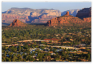 Looking down from Airport Road in the early morning at beautiful Sedona Arizona, USA