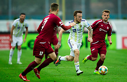 Dino Hotić of Maribor vs Gašper Udovič of Triglav during Football match between NK Triglav and NK Maribor in 25th Round of Prva liga Telekom Slovenije 2018/19, on April 6, 2019, in Sports centre Kranj, Slovenia. Photo by Vid Ponikvar / Sportida