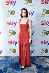 Jennifer Kirby attending the TRIC Awards 2019 50th Birthday Celebration held at the Grosvenor House Hotel, London.