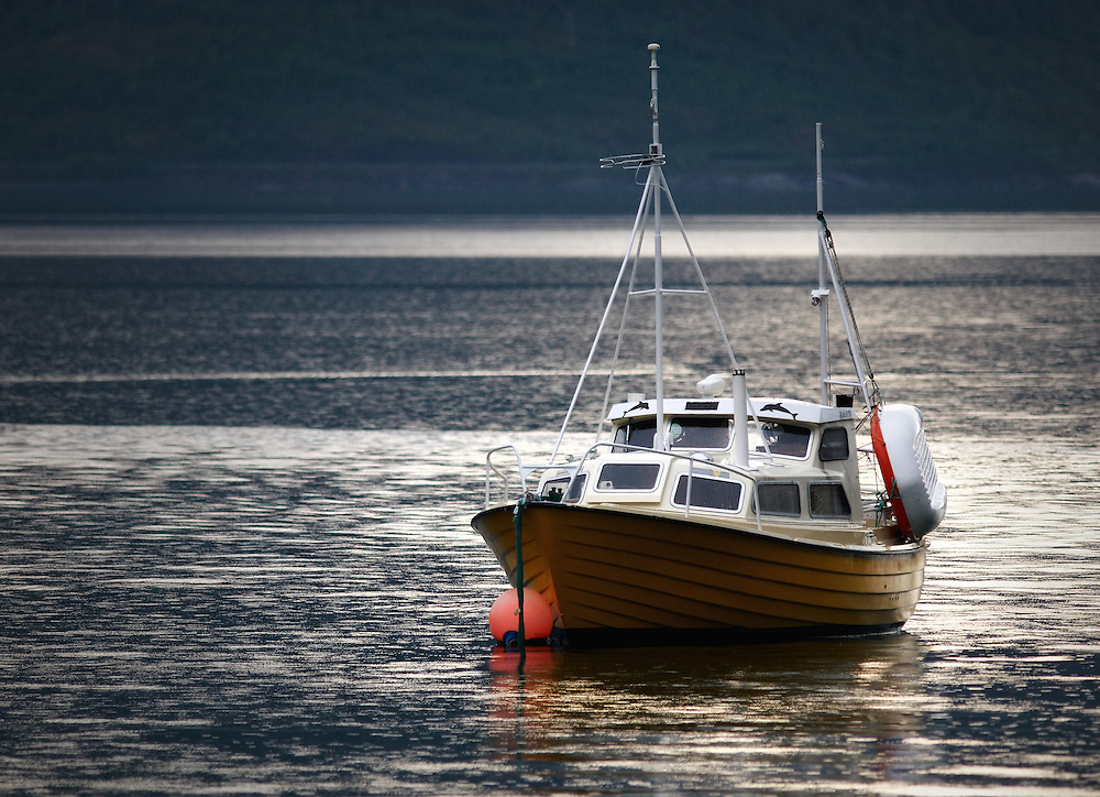 Norway - Boat in Øksfjord