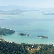 Langkawi landscape sea view from Gunung Machinchang