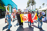 Hundreds of LA area residents attend a diversity march from the Venice Boardwalk to Google Headquarters, and ending at the HBO offices in Santa Monica.