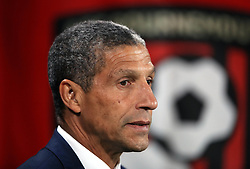 Brighton & Hove Albion manager Chris Hughton during the Premier League match at the Vitality Stadium, Bournemouth.