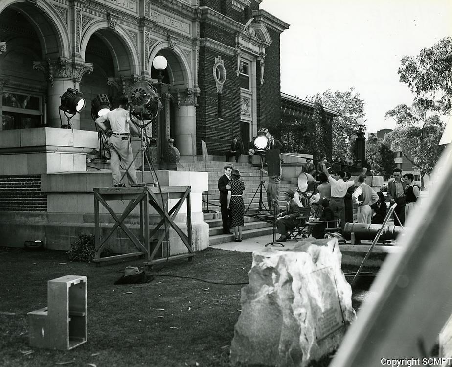 1938 Filming at Columbia Studios