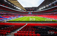 LONDON, ENGLAND - MARCH 31: Stadion Wembley widok ilustracja during the FIFA World Cup 2022 Qatar qualifying match between England and Poland on March 31, 2021 in London, United Kingdom. Sporting stadiums around the UK remain under strict restrictions due to the Coronavirus Pandemic as Government social distancing laws prohibit fans inside venues resulting in games being played behind closed doors. (Photo by Wlosek/PressFocus/MB Media)