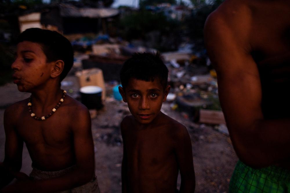Boys in the Nova Gazela camp.