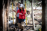 Rutgers held its Scarlet Day of Service on Saturday, April 21, 2018. Student and others volunteered their time to do community projects. Here, they clean up and upgrade the Arbor Trail on Ryders Lane in New Brunswick. / Russ DeSantis Photography and Video, LLC