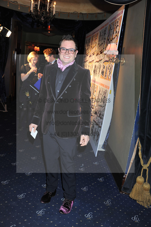 ALAN CARR at the Hoping Variety Show - A benefit evening for Palestinian Refugee Children held at The Cafe de Paris, Coventry Street, London on 21st November 2011.