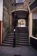 A082R9 Steps and alleyway Frome Somerset England