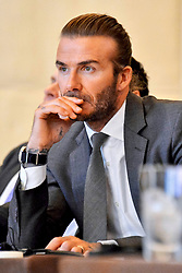 October 4, 2017 - Tokio, Tokio, Japan - David Beckham bei einer Pressekonferenz zum Werbevertrag mit den Las Vegas Sands Casinos im Palace Hotel. Tokio, 04.10.2017 (Credit Image: © Future-Image via ZUMA Press)