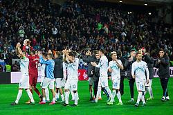 Players of Slovenia after the UEFA EURO 2016 Play-off for Final Tournament, Second leg between Slovenia and Ukraine, on November 17, 2015 in Stadium Ljudski vrt, Maribor, Slovenia. Photo by Vid Ponikvar / Sportida