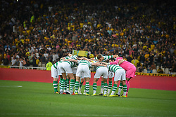 August 14, 2018 - Athens, Greece - Thee team of Celtic ahead of  the UEFA Champions League 3rd Qualifying round second  leg match AEK FC  vs Celtic FC at the Olympic Stadium of Athens , on 14 August 2018. (Credit Image: © Giannis Alexopoulos/NurPhoto via ZUMA Press)