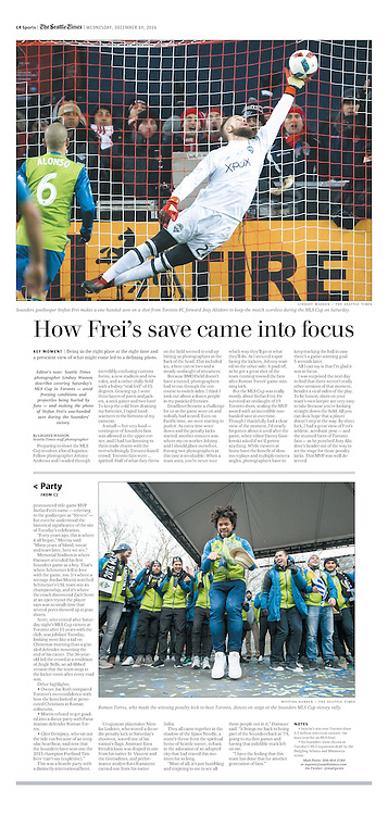 How Frei's save came into focus