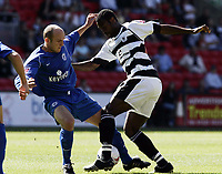 Fotball<br /> England 2004/2005<br /> Foto: Action Images/Digitalsport<br /> NORWAY ONLY<br /> <br /> Football - Darlington v Rochdale Coca-Cola Football League Two  - The Williamson Motors Stadium - 29/8/05<br /> Darlington's Akpo Sodje is brought down by Rochdale's Tony Gallimore