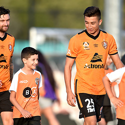 BRISBANE, AUSTRALIA - NOVEMBER 7: Rahmat Akbari of the Roar during the friendly match between Eastern Suburbs FC and Brisbane Roar FC at Heath Park on November 7, 2020 in Brisbane, Australia. (Photo by Patrick Kearney)