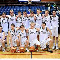 25 January 2010; The CBS Ennistymon team. All-Ireland School Cup Finals 2010, CBS Ennistymon, Clare, v St Marys, Sligo, National Basketball Arena, Tallaght, Dublin. Picture credit: Stephen McCarthy / SPORTSFILE