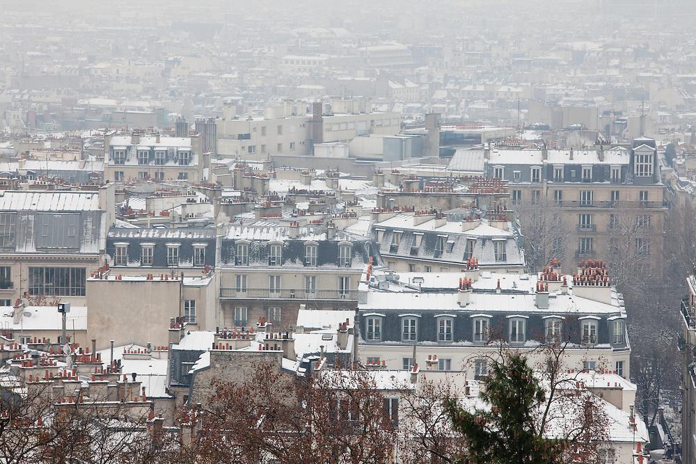 Paris, France. December 17th 2009..From Place du Palais du Sacré Coeur (18th Arrondissement)