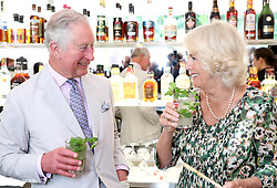 File photo dated 27/03/19 of the Prince of Wales and the Duchess of Cornwall enjoy a mojito as they visit a paladar called Habanera, a privately owned restaurant in Havana, Cuba. Charles and Camilla are celebrating their 15th wedding anniversary on Friday, after they were reunited on Monday when the 72-year-old duchess came out of a 14-day self-isolation on the Balmoral estate in Aberdeenshire.