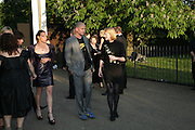 Dinos Chapman with his wife and Seraphine , The Summer Party in association with Swarovski. Co-Chairs: Zaha Hadid and Dennis Hopper, Serpentine Gallery. London. 11 July 2007. <br />